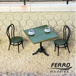 """""""Bistro"""" square table and..."""