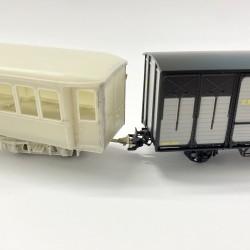 wagon : REE, voiture : Train D'Antan, attelage : Ferro Modèles